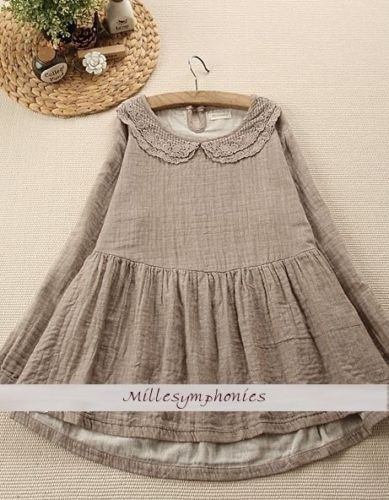 Tunique-blouse-naturel-coton-lin-crochet-Mori-Girl-boheme-ancienne-shabby