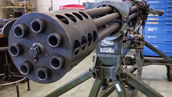 Filmed throughout acceptance trials for a new lot of ammunition, this impressive clip shows a GAU-8/A Avenger Gatling Gun firing from a test stand.  What makes this video interesting is the fact that although the muzzle was placed 40 feet from the camera you can clearly hear the noise of the A-10's 30mm rotary cannon firing 170 rounds during this 2,3 sec. long burst.