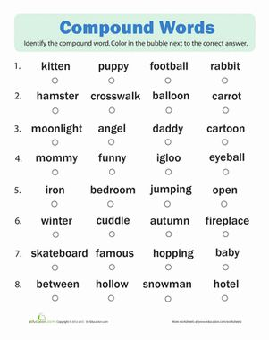 Worksheets 1st Grade Vocabulary Worksheets compound words quiz kid and spelling first grade vocabulary worksheets quiz