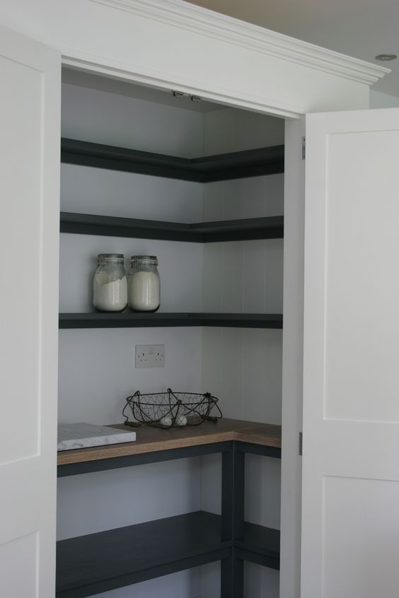 Under Stairs Cupboard Corner Shelves And Pantry On Pinterest