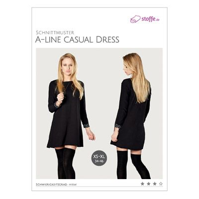Schnittmuster A-line Casual Dress