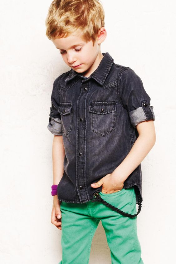 chambray shirt from Finger in the Nose #boysfashion #style #kids