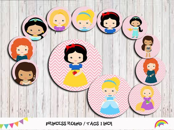 Princess  1 inch Circles Bottle Cap Image by RainbowSweetStudio