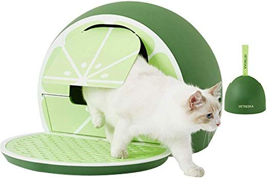 Vetreska Cat Litter Box Furniture Hidden Covered Litter Box Domed Cat Litter Box Sifting Litter Cat Litter Box Cat Litter Box Furniture Cat Litter