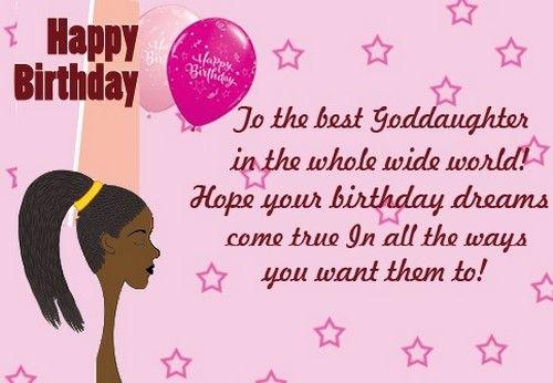 Happy Birthday Goddaughter Wishesgreeting Happy Birthday Qoutes 1st Birthday Quotes Daughter Of God