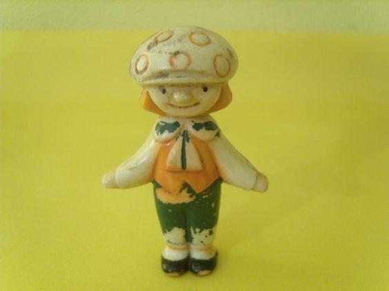 Игрушка Клоун (?). Игрушки СССР - http://samoe-vazhnoe.blogspot.ru/  #фигурки_колкий_пластик