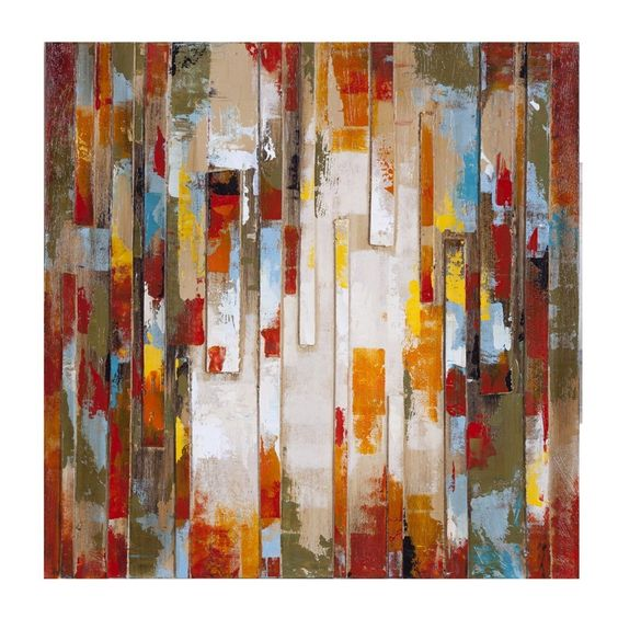 Cuadro abstracto moderno 80x80 cm cuadros pinterest - Cuadros modernos valencia ...