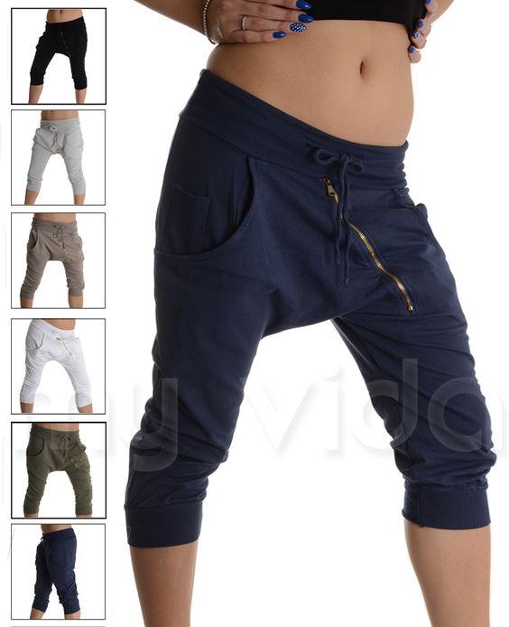 #Pantaloni corti alla #turca con zip. #Pantaloncini estivi modello #pinocchietti in cotone ed elastam, leggeri e comodi ideali in #estate