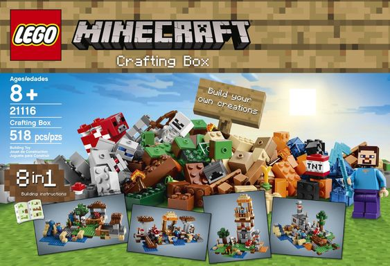 LEGO Minecraft Crafting Box - One of the new collections from LEGO. With 521 pieces and 3 mini figures, you child will be engrossed for days.