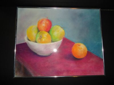 chalk pastel still life painting