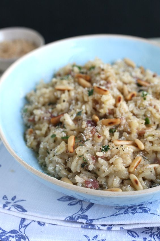 Bacon and Apple Risotto, I don't have to go to The Lobby anymore!