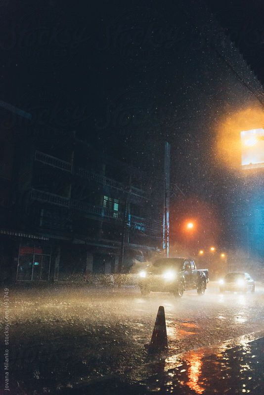 Driving On A Rainy Night In The City By Jovana Milanko Stocksy United Rainy Night Night Time Photography City Rain