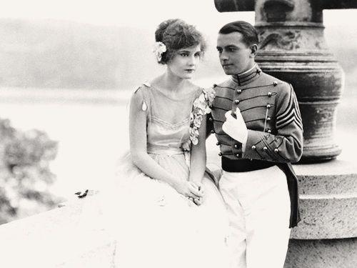 lostsilentfilms:  Madge Evans and Richard Barthelmess in'Classmates', 1924.