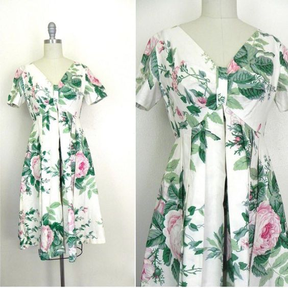 IN THE SHOP Vintage 1980s Lord and Taylor White Floral Dress (32/26/free) Size Small http://ift.tt/1lP6fC1