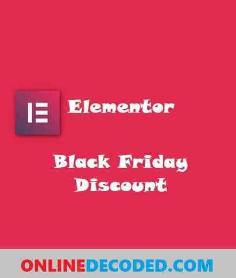 Elementor Black Friday Discount 2020 Save 30 In 2020 Cyber Monday Offers Holiday Offer Black Friday