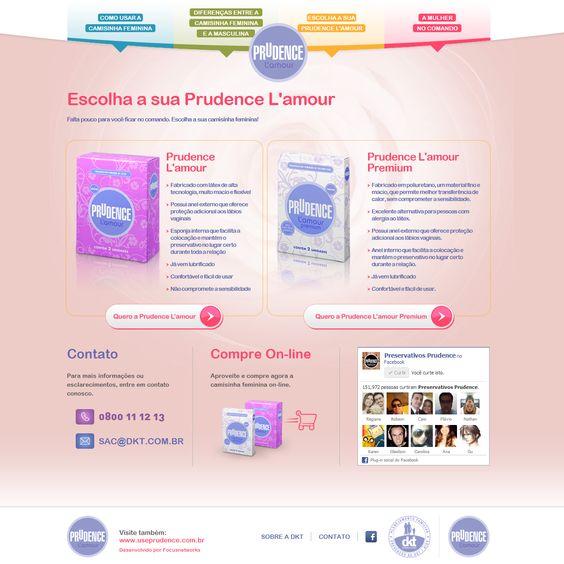 Página de Produtos da Prudence L'amour