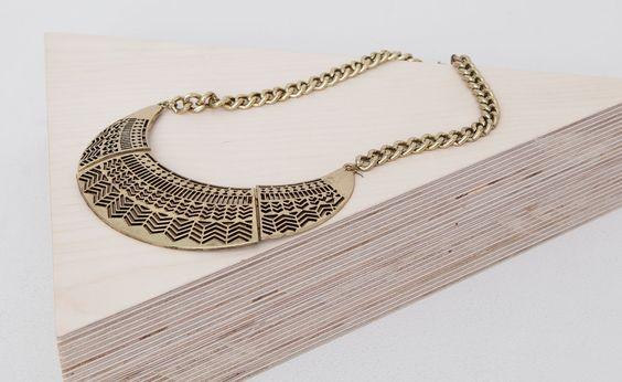 Pull&Bear - mulher - bijuteria - colar perfurado corrente - ouro - 05993313-V2015