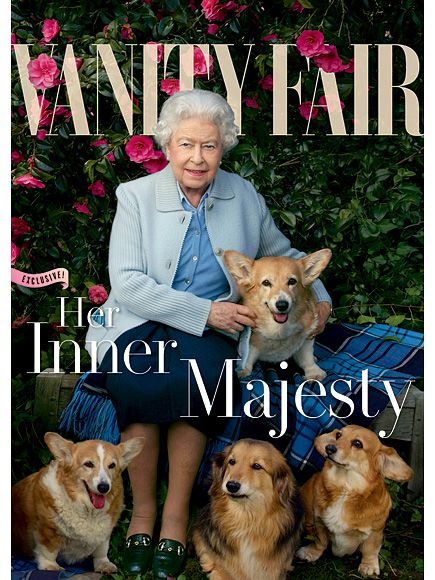 Queen Elizabeth Covers Vanity Fair with Corgis and Dorgis! (A dorgi is a corgi-dachshund mix.) Photo by Annie Leibovitz.