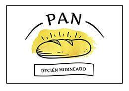 Cartel De Pan Recien Horneado Listo Para Imprimir Cartel Gratis Decoracion De Panaderia Frases De Cocina Panaderia Italiana