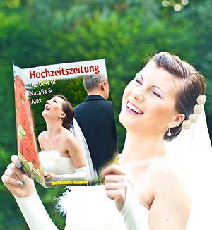Eine ganz persönliche Hochzeitszeitschrift speziell zur Hochzeit http://www.hochzeit-extrablatt.de/hochzeitszeitung.html