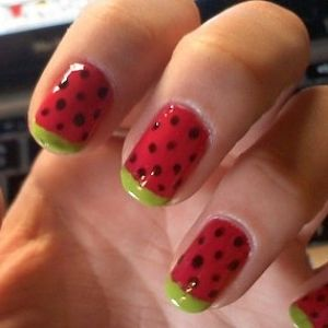 Watermelon nails?