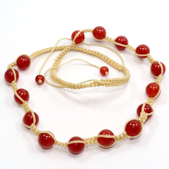Carnelian Beaded Gemstone String Fabulous Necklace Amazing Jewelry PG 4858 #PinkCityGems #Necklace