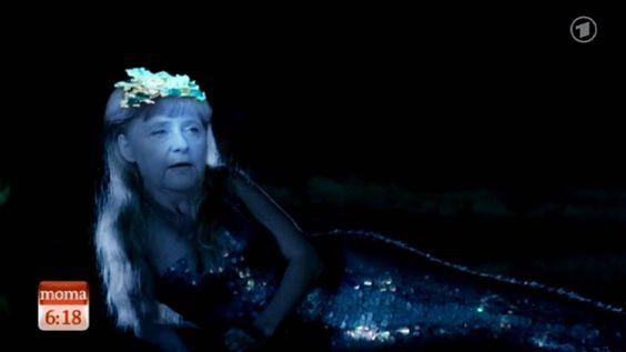 Die kleine Merkel-Jungfrau (ARD Morgenmagazin)