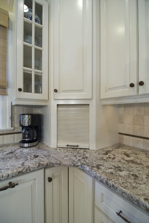 The Kitchen Cabinet #33: This Breadbox Built Into The Corner Of The Kitchen Cabinetry Makes Clever Use Of An Awkward