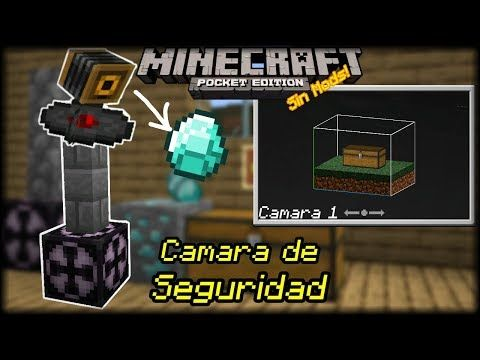 Como Hacer Una Camara De Vigilancia Sin Mods Minecraft Pocket Edition Interfaz 3d Y Mas Lol Xd Yout Cámara De Vigilancia Minecraft Pocket Edition Minecraft