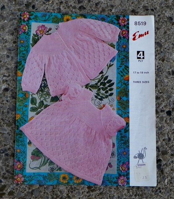 Knitting patterns for babies, Emu and Knitting patterns on Pinterest