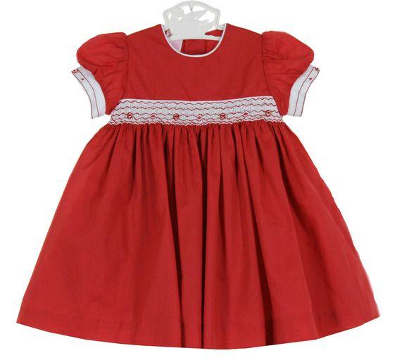 Red Cotton Dress - Qi Dress