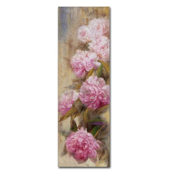 Peonies II by Li Bo Painting Print on Wrapped Canvas
