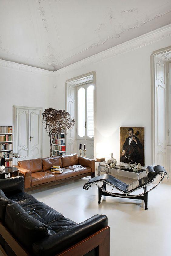 Phòng khách cung Xử Nữ đẹp và sang trọng với sofa da thật tphcm