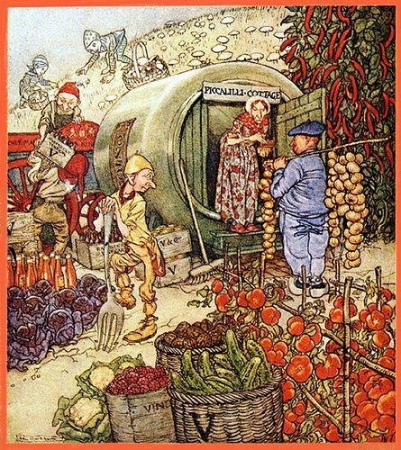 Mr and Mrs Vinegar.  Arthur Rackham. 1918.