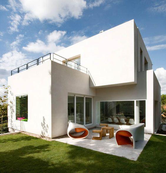 ภาพตัวอย่างบ้านสวยๆ บ้านปูนโมเดิร์น