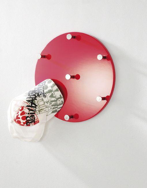 Wandgarderobe Rot Chrom Nickel Stahl Mdf 0x5x0cm