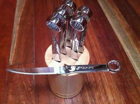 coolest knife set ever.