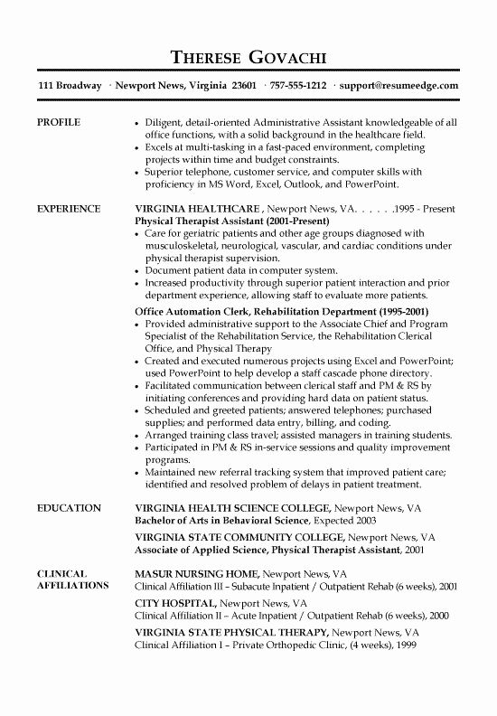 Front Office Medical Assistant Resume Awesome Receptionist Assistant Business Letter