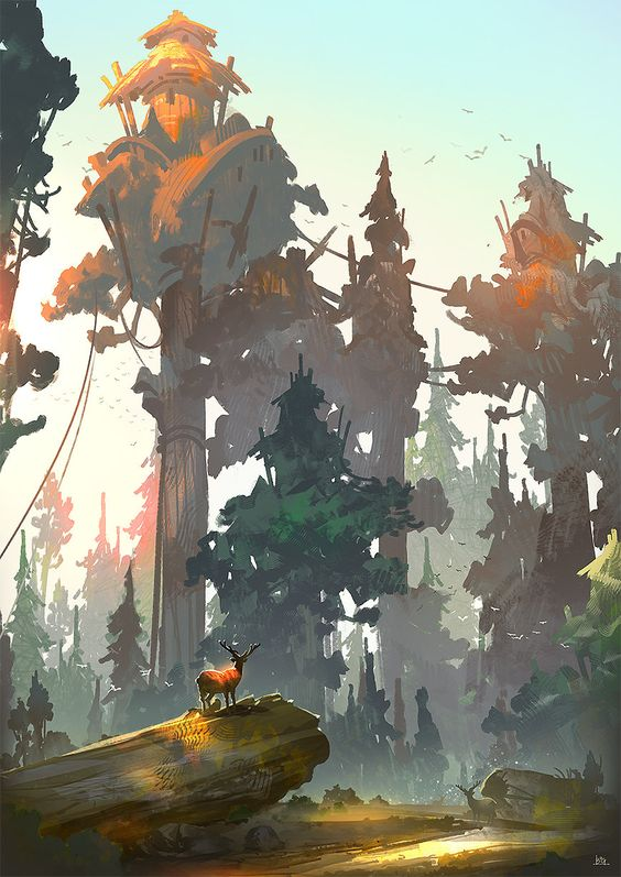 Forest, Gao ZhiPing on ArtStation at https://www.artstation.com/artwork/forest-806b3079-cabf-4c38-8c47-78ce5dc0740a