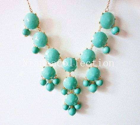 Just bought this aqua/turquoise Bubble Statement necklace from Etsy! Thanks for the blog post @Sheridan Wimmer!     (http://www.etsy.com/listing/99206199/sale-aquaturquoise-bubble-statement?ref=sr_gallery_11_search_query=turquoise+bubble+necklace_view_type=gallery_ship_to=ZZ_min=0_max=0_ref=auto1_search_type=all)