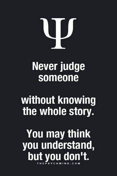 Stop judging if you do not wanted to be judge too. -_- ...