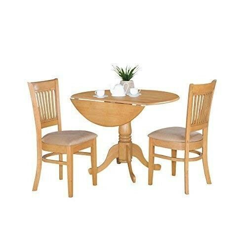 Drop Leaf Dining Table Chairs Set Round Solid Wood Home Kitchen Small Space Oak 342 63end Date Eb With Images Dining Table Chairs Home Kitchens Drop Leaf Dining Table