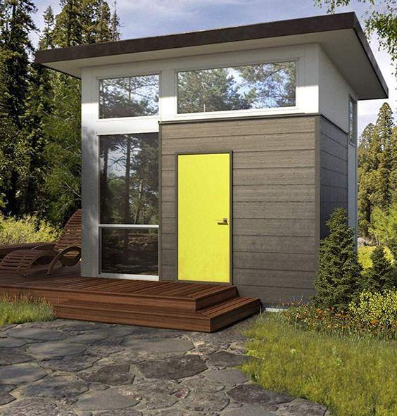 The Cube: a casa em formato de cubo conta com cozinha, banheiro, sala e quarto (Foto: Amazon/ Reprodução)