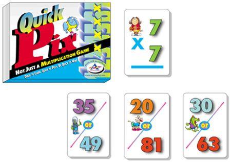 Rápido Pix™ Juego de Memoria de Multiplicación - Hecho en EE. UU
