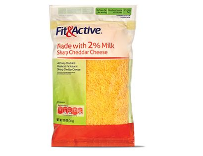 Fit & Active® 2% Milk Sharp Cheddar Cheese | ORGANIZATION - Visual ...