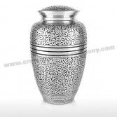 Silver Leaf Cremation Urn Cremation Urns - Urns For Ashes - Funeral Urns - Ashes Urns - Cremation Urns Company