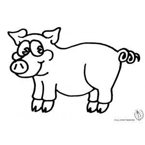 disegno di maialino da colorare disegni di animali da colorare pinterest