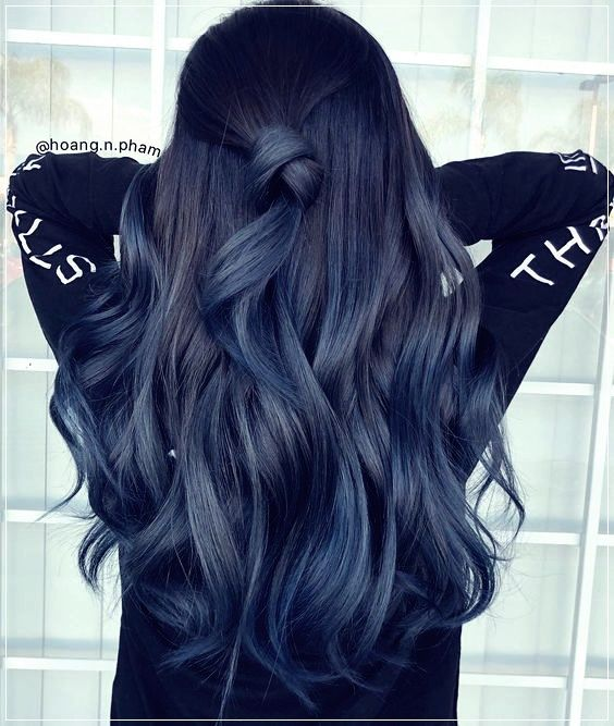 15 Ideas To Add Colored Wicks To Your Look Blue Ombre Hair Hair Styles Hair Inspo Color