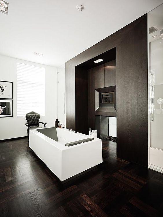 Bob manders architect donkere houten vloer super combinatie in badkamer inspiratie bvo - Badkamer houten vloer ...