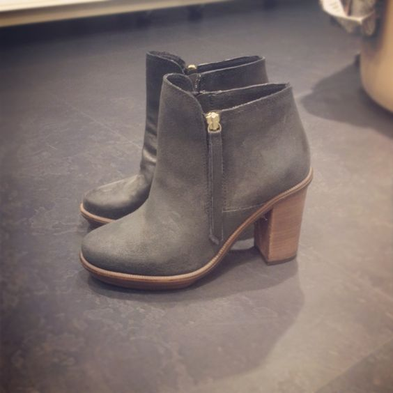 grey booties for my collection. boyfriend jeans, skinnies, and all the layers you can imagine for the cold weather!